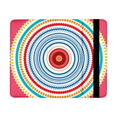 Colorful Round Kaleidoscope Samsung Galaxy Tab Pro 8 4  Flip Case by LalyLauraFLM