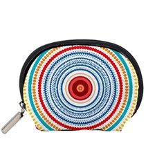 Colorful Round Kaleidoscope Accessory Pouch (small) by LalyLauraFLM