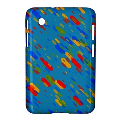 Colorful Shapes On A Blue Background Samsung Galaxy Tab 2 (7 ) P3100 Hardshell Case  by LalyLauraFLM