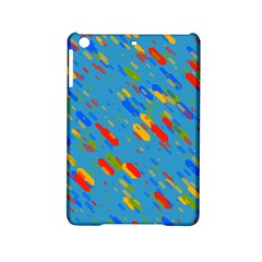 Colorful Shapes On A Blue Background Apple Ipad Mini 2 Hardshell Case by LalyLauraFLM
