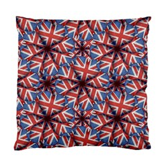 Heart Shaped England Flag Pattern Design Cushion Case (two Sided)