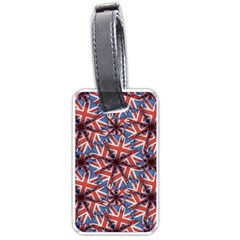 Heart Shaped England Flag Pattern Design Luggage Tag (one Side) by dflcprints