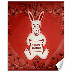 Cute Bunny Happy Easter Drawing Illustration Design Canvas 11  X 14  (unframed) by dflcprints