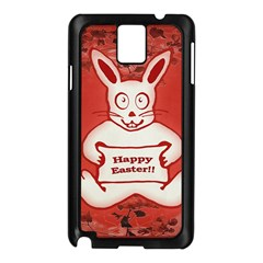 Cute Bunny Happy Easter Drawing Illustration Design Samsung Galaxy Note 3 N9005 Case (black) by dflcprints