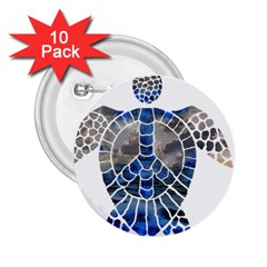 Peace Turtle 2 25  Button (10 Pack)