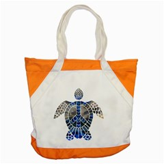 Peace Turtle Accent Tote Bag by oddzodd