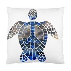 Peace Turtle Cushion Case (single Sided)  by oddzodd