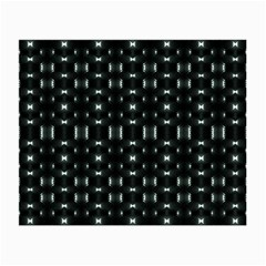 Futuristic Dark Hexagonal Grid Pattern Design Glasses Cloth (small) by dflcprints