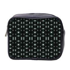 Futuristic Dark Hexagonal Grid Pattern Design Mini Travel Toiletry Bag (two Sides) by dflcprints