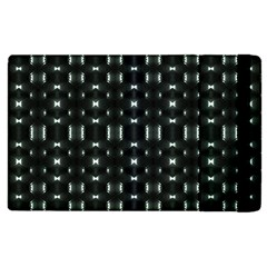 Futuristic Dark Hexagonal Grid Pattern Design Apple Ipad 2 Flip Case by dflcprints