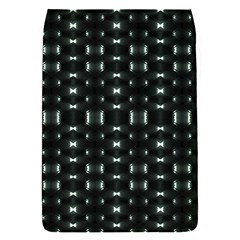 Futuristic Dark Hexagonal Grid Pattern Design Removable Flap Cover (small) by dflcprints