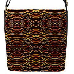 Tribal Art Abstract Pattern Flap Closure Messenger Bag (small) by dflcprints