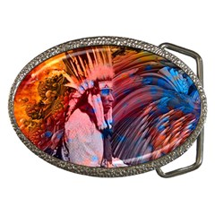 Astral Dreamtime Belt Buckle (oval) by icarusismartdesigns