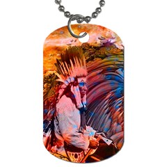 Astral Dreamtime Dog Tag (one Sided) by icarusismartdesigns