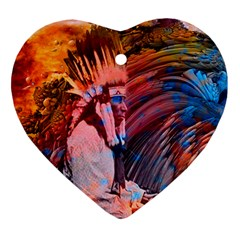 Astral Dreamtime Heart Ornament (two Sides) by icarusismartdesigns