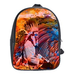 Astral Dreamtime School Bag (large) by icarusismartdesigns