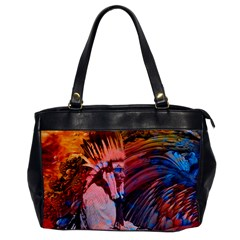 Astral Dreamtime Oversize Office Handbag (one Side) by icarusismartdesigns
