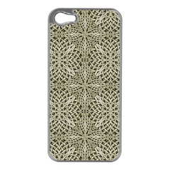Silver Intricate Arabesque Pattern Apple Iphone 5 Case (silver) by dflcprints
