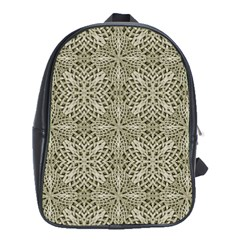 Silver Intricate Arabesque Pattern School Bag (xl) by dflcprints