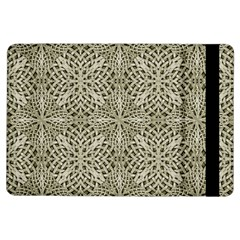 Silver Intricate Arabesque Pattern Apple Ipad Air Flip Case by dflcprints