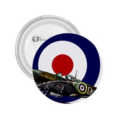 Spitfire And Roundel 2 25  Button by TheManCave