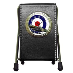 Spitfire And Roundel Stationery Holder Clock by TheManCave