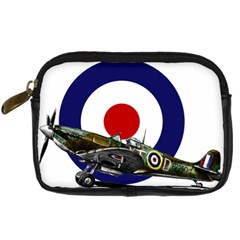 Spitfire And Roundel Digital Camera Leather Case by TheManCave