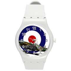 Spitfire And Roundel Plastic Sport Watch (medium) by TheManCave
