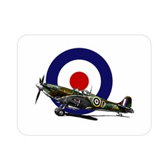 Spitfire And Roundel Double Sided Flano Blanket (mini) by TheManCave