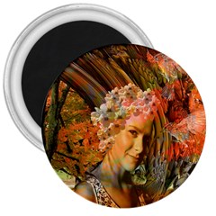 Autumn 3  Button Magnet by icarusismartdesigns