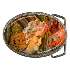 Autumn Belt Buckle (oval) by icarusismartdesigns