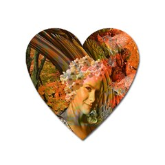 Autumn Magnet (heart) by icarusismartdesigns