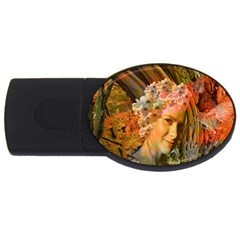 Autumn 2gb Usb Flash Drive (oval) by icarusismartdesigns
