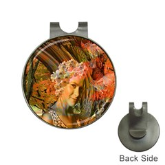 Autumn Hat Clip With Golf Ball Marker by icarusismartdesigns
