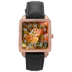 Autumn Rose Gold Leather Watch  by icarusismartdesigns