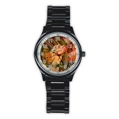 Autumn Sport Metal Watch (black) by icarusismartdesigns