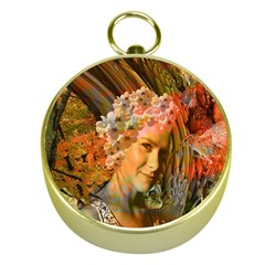 Autumn Gold Compass by icarusismartdesigns