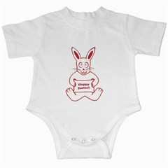 Cute Bunny Happy Easter Drawing I Infant Bodysuit by dflcprints