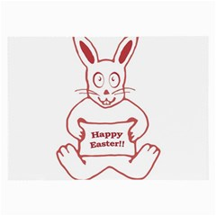 Cute Bunny Happy Easter Drawing I Glasses Cloth (large) by dflcprints