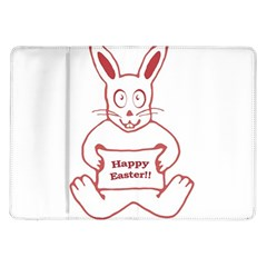 Cute Bunny Happy Easter Drawing I Samsung Galaxy Tab 10 1  P7500 Flip Case by dflcprints