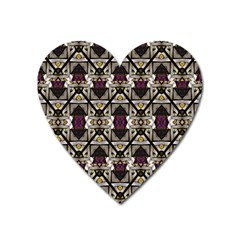 Abstract Geometric Modern Seamless Pattern Magnet (heart) by dflcprints