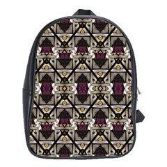 Abstract Geometric Modern Seamless Pattern School Bag (xl) by dflcprints