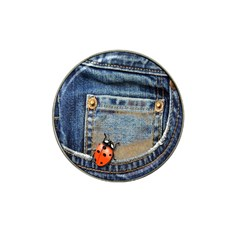 Blue Jean Lady Bug Golf Ball Marker (for Hat Clip) by TheWowFactor
