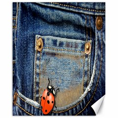 Blue Jean Lady Bug Canvas 16  X 20  (unframed) by TheWowFactor