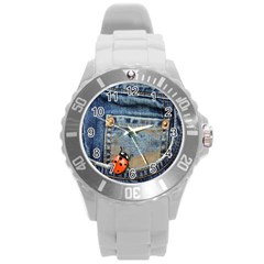 Blue Jean Lady Bug Plastic Sport Watch (large) by TheWowFactor