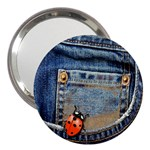 Blue Jean Lady Bug 3  Handbag Mirror Front