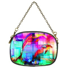 Tim Henderson Dolphins Chain Purse (two Sided)  by TheWowFactor
