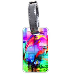 Tim Henderson Dolphins Luggage Tag (two Sides) by TheWowFactor
