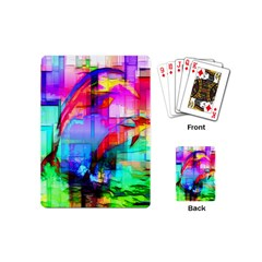 Tim Henderson Dolphins Playing Cards (mini) by TheWowFactor