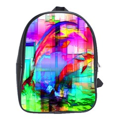 Tim Henderson Dolphins School Bag (xl) by TheWowFactor